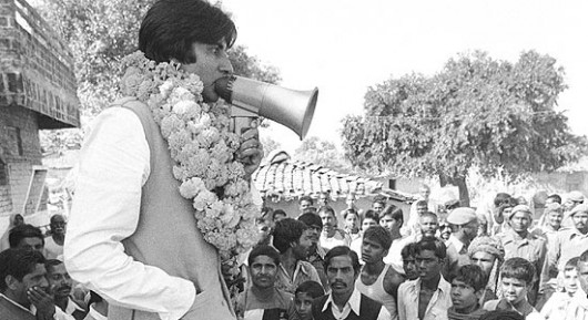 Big B at an Election Campaign