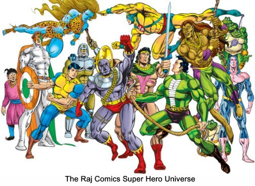 Super Heroes of Raj Comics