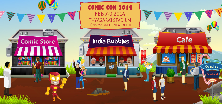 India Bobbles at Comic Con